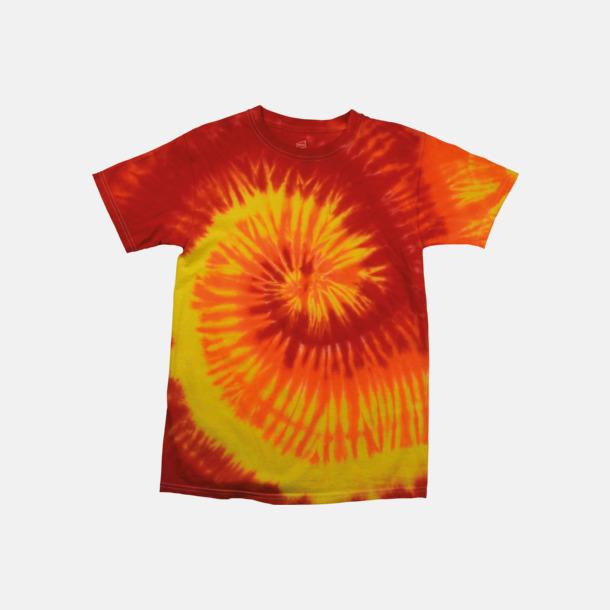 Blaze (endast unisex) Batikfärgade t-shirts med reklamtryck