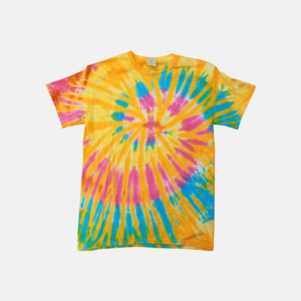 Aurora (endast unisex) Batikfärgade t-shirts med reklamtryck