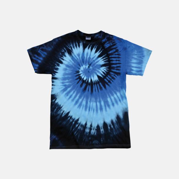 Blue Ocean (endast unisex) Batikfärgade t-shirts med reklamtryck