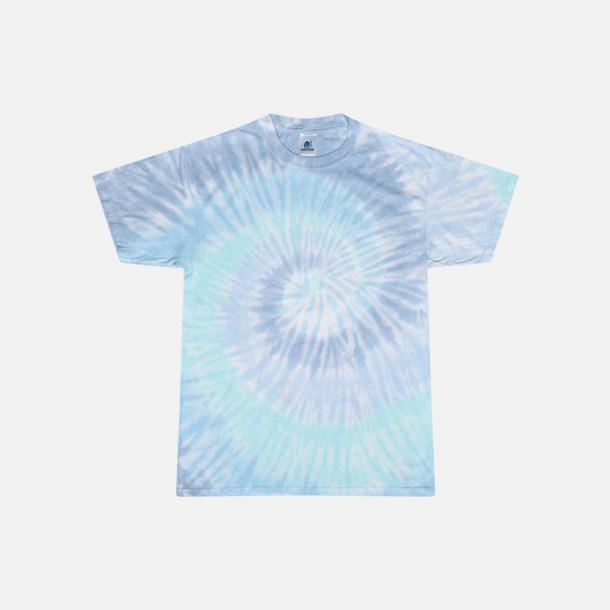 Lagoon (endast unisex) Batikfärgade t-shirts med reklamtryck