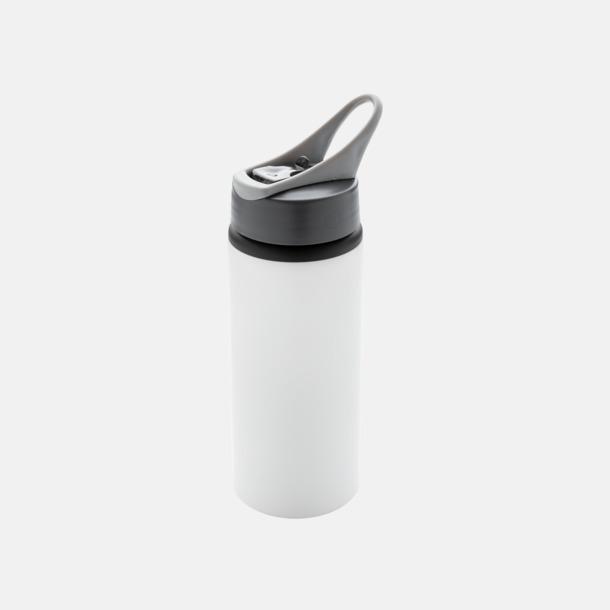 Vit 60 cl vattenflaskor i aluminium med reklamtryck