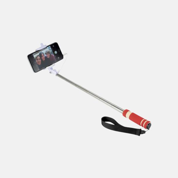 Röd Små selfiepinnar med reklamtryck