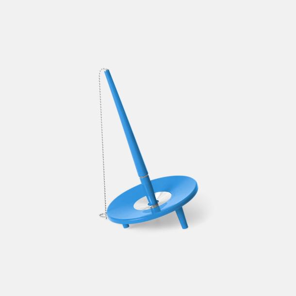 Blå Retro kulspetspenna med ställ med eget tryck