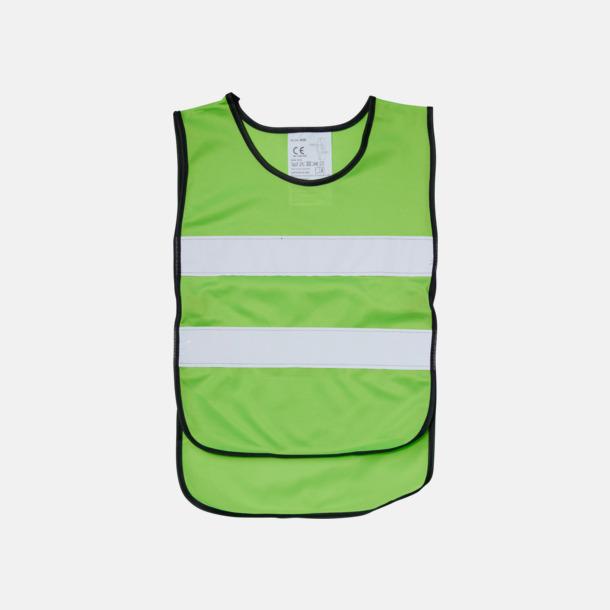 Fluorescerande Grön (PMS 376) Reflexväst Barn - Billiga barnvästar Med tryck