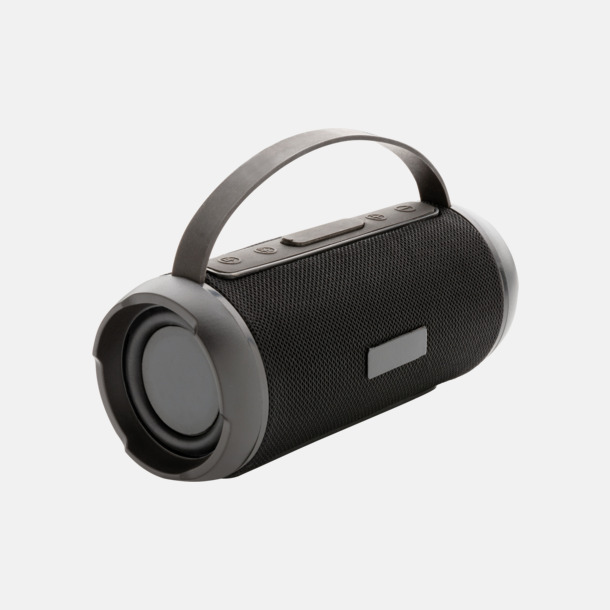 Svart Vattentäta trådlösa högtalare med eget reklamtryck