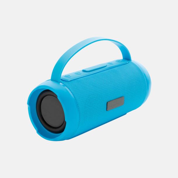 Blå Vattentäta trådlösa högtalare med eget reklamtryck