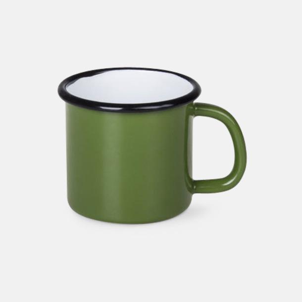 Grön Emaljmuggar på 30 & 45 cl med reklamtryck