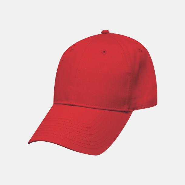 Röd Bra kepsar i bomullstwill med reklamlogo