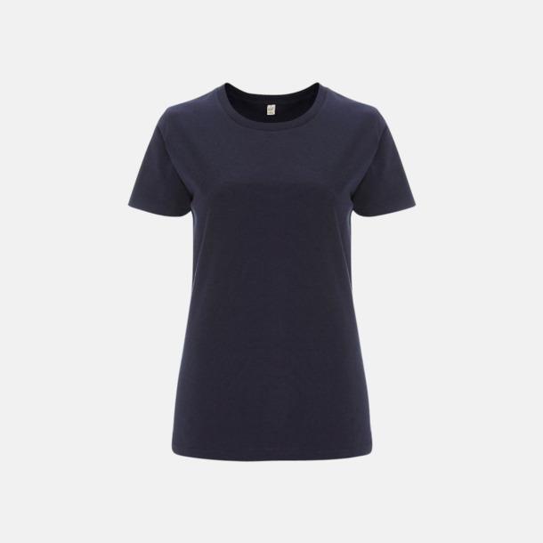 Marinblå (dam) Eko t-shirts för vuxna & barn - med reklamtryck