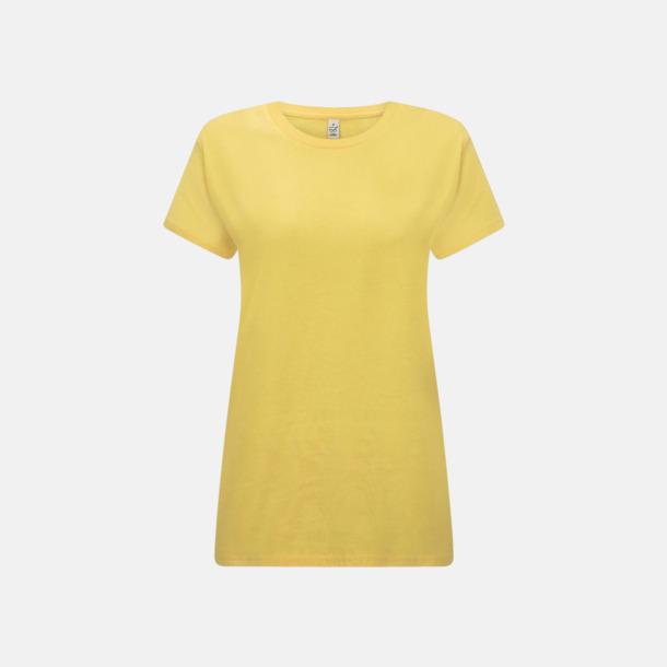 Buttercup Yellow (dam) Eko t-shirts för vuxna & barn - med reklamtryck