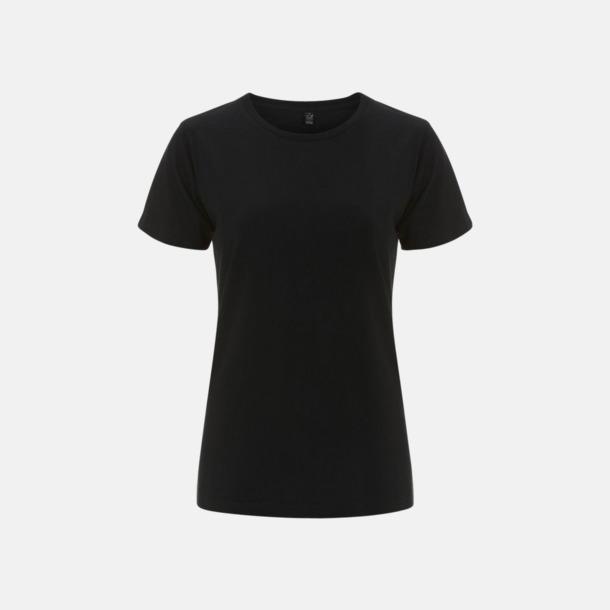 Svart (dam) Eko t-shirts för vuxna & barn - med reklamtryck