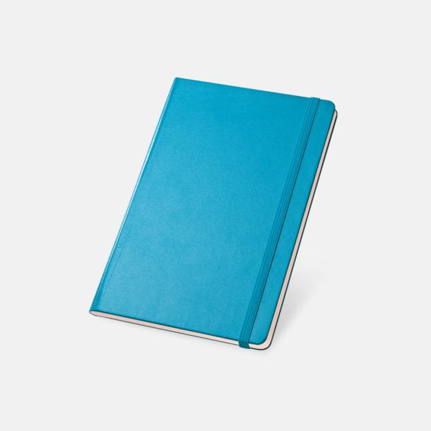 Ljusblå Anteckningsböcker med linjerade sidor - med reklamtryck