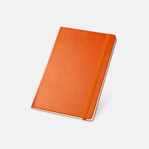 Orange Anteckningsböcker med linjerade sidor - med reklamtryck