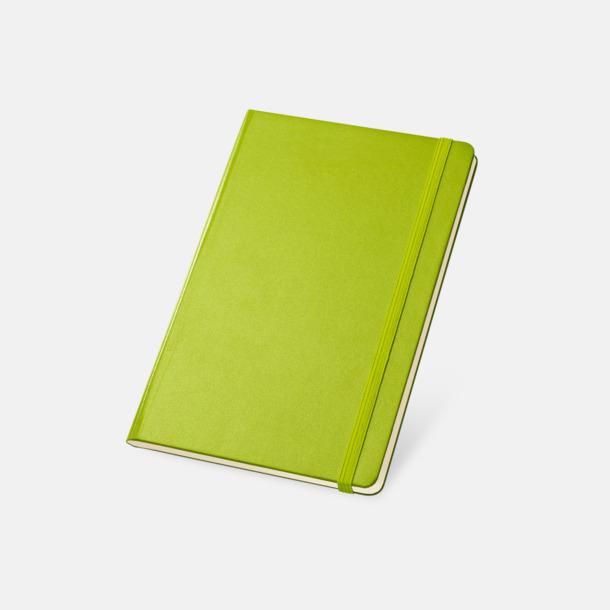 Ljusgrön Anteckningsböcker med linjerade sidor - med reklamtryck