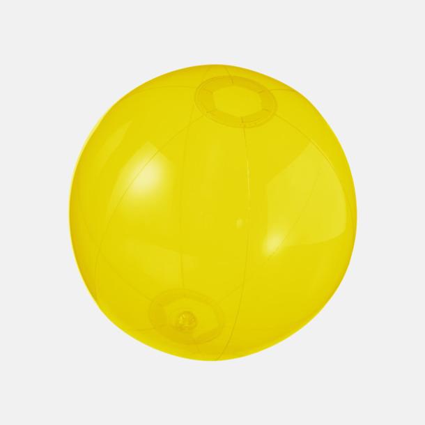 Gul (transparent) Badbollar i solida och transparenta färger med reklamtryck