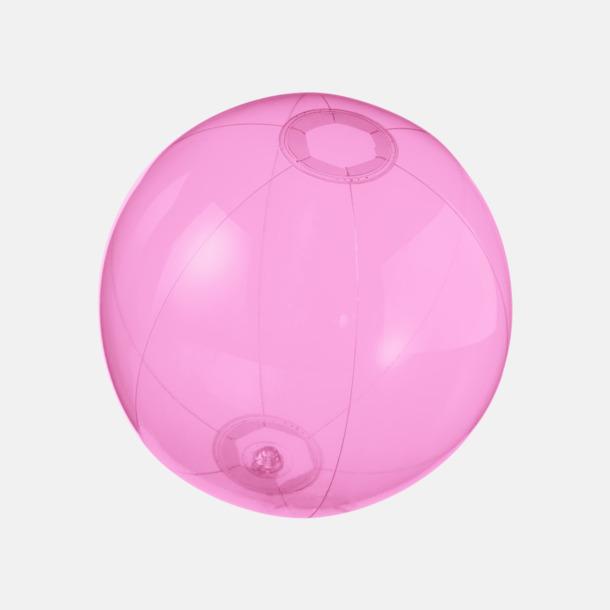 Rosa (transparent) Badbollar i solida och transparenta färger med reklamtryck