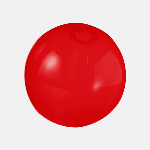 Röd (transparent) Badbollar i solida och transparenta färger med reklamtryck
