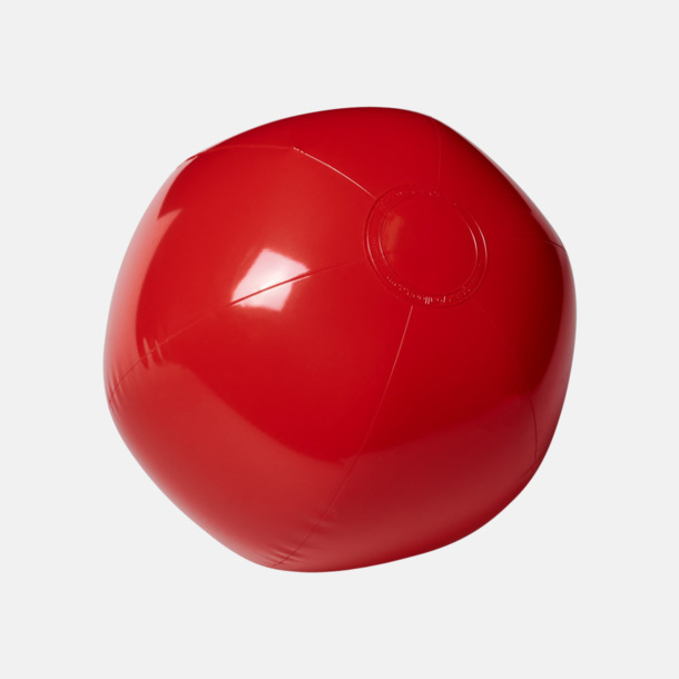 Röd (solid) Badbollar i solida och transparenta färger med reklamtryck