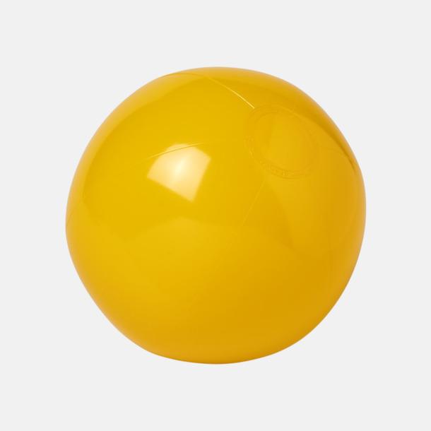 Gul (solid) Badbollar i solida och transparenta färger med reklamtryck