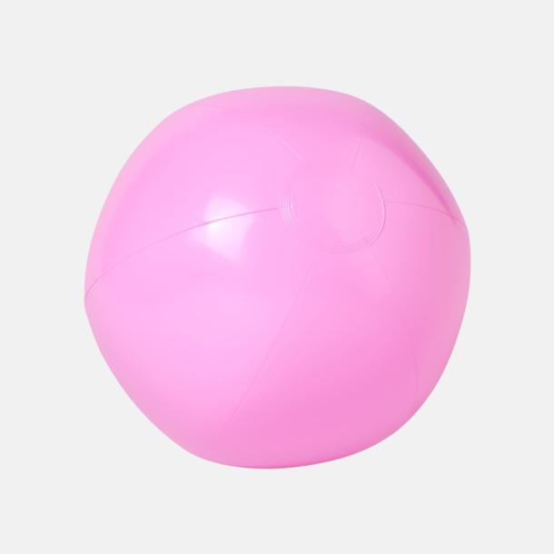 Ljusrosa (solid) Badbollar i solida och transparenta färger med reklamtryck