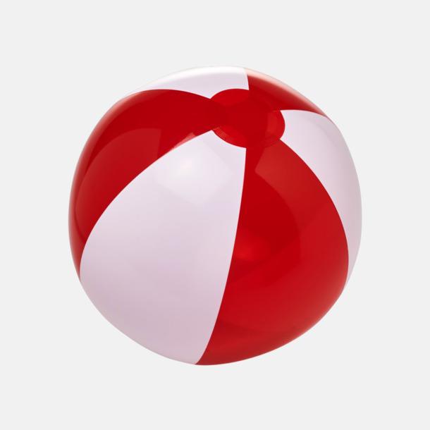 Transparent Röd/Vit Uppblåsbara, randiga badbollar med eget reklamtryck