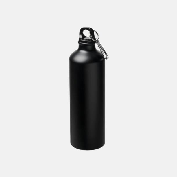 Svart Stora vattenflaskor i matt finish med reklamtryck