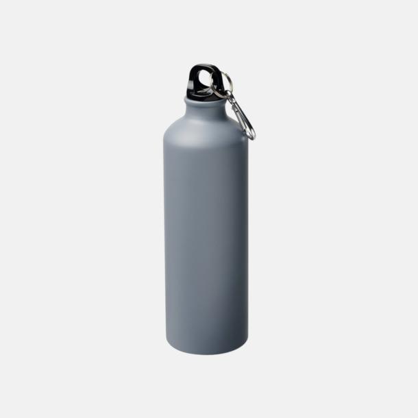 Grå Stora vattenflaskor i matt finish med reklamtryck