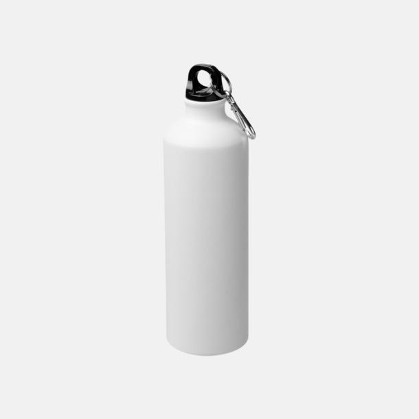 Vit Stora vattenflaskor i matt finish med reklamtryck