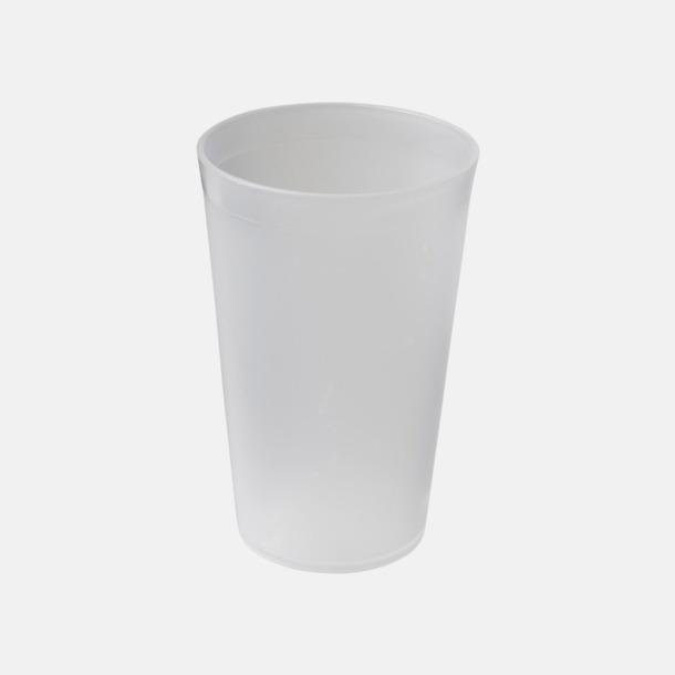 Transparent Enkla och billiga plastglas med reklamtryck