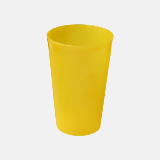 Gul (frostad) Enkla och billiga plastglas med reklamtryck