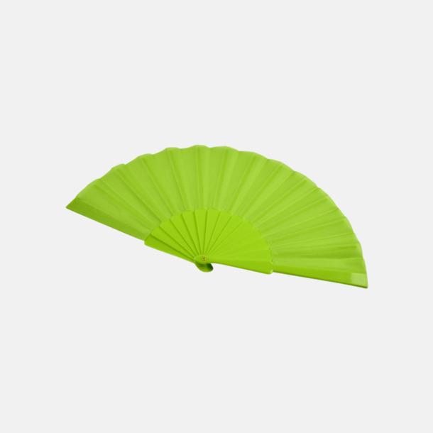 Grön Fina solfjädrar med reklamtryck