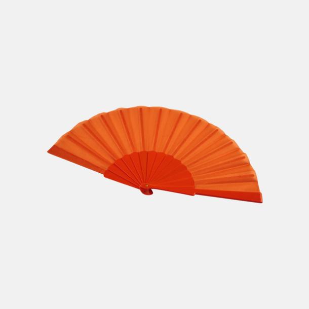 Orange Fina solfjädrar med reklamtryck
