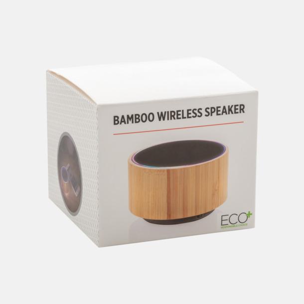Trådlös bambu högtalare med eget reklamtryck