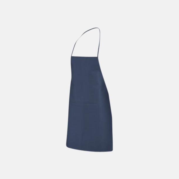 Mörkblå Billiga förkläden med reklamtryck