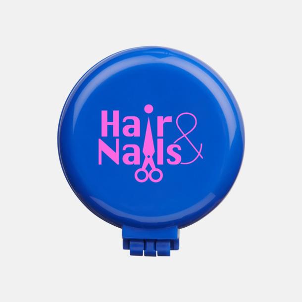 Med reklamtryck Fickspegel med hårborste