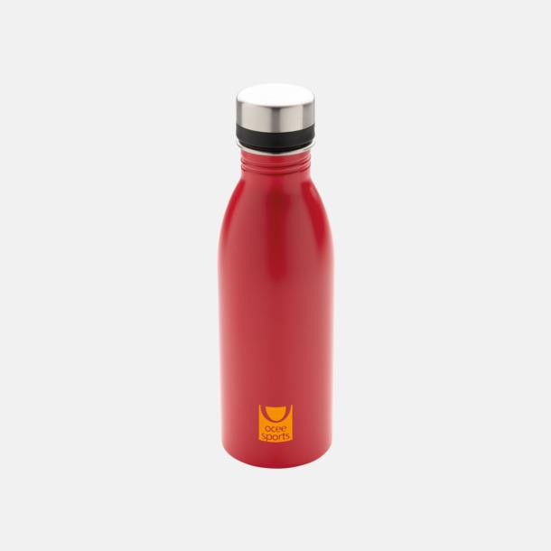 1-färgstryck Vattenflaskor i stål från Medtryck med egen logga