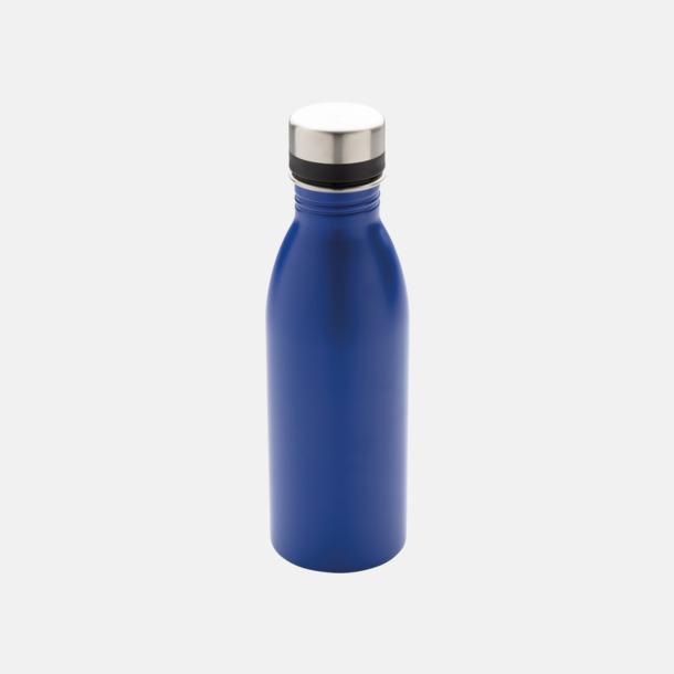 Blå Vattenflaskor i stål från Medtryck med egen logga
