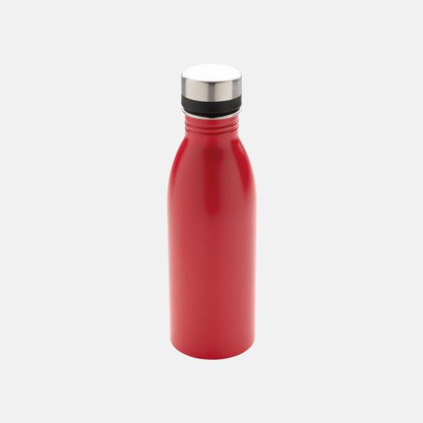 Röd Vattenflaskor i stål från Medtryck med egen logga