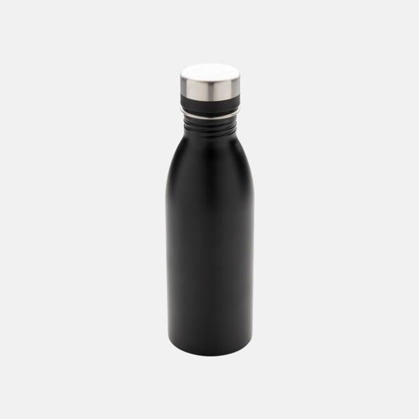 Svart Vattenflaskor i stål från Medtryck med egen logga