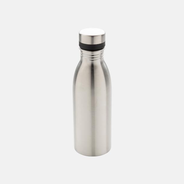 Silver Vattenflaskor i stål från Medtryck med egen logga