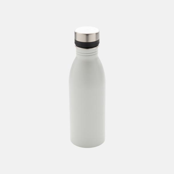 Vit Vattenflaskor i stål från Medtryck med egen logga