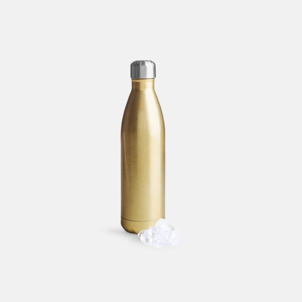 Guld Stora stålvakuumflaskor från Sagaform med reklamtryck
