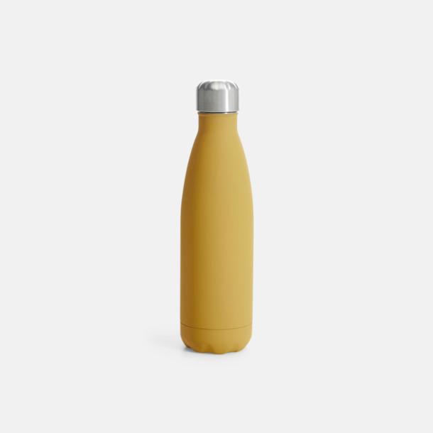 Gul (med gummiyta) Stålvakuumflaskor från Sagaform med reklamtryck