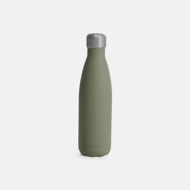 Grön (med gummiyta) Stålvakuumflaskor från Sagaform med reklamtryck