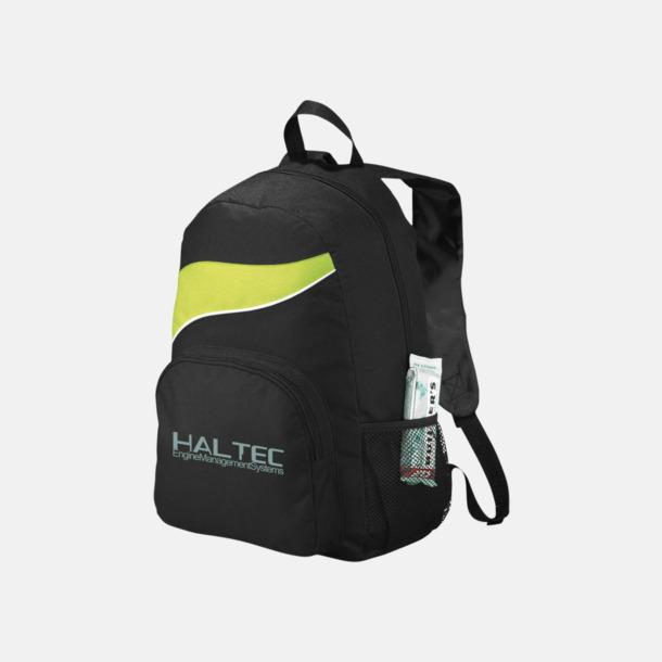 Med reklamlogo Billiga ryggsäckar ned vågaccent - med reklamtryck