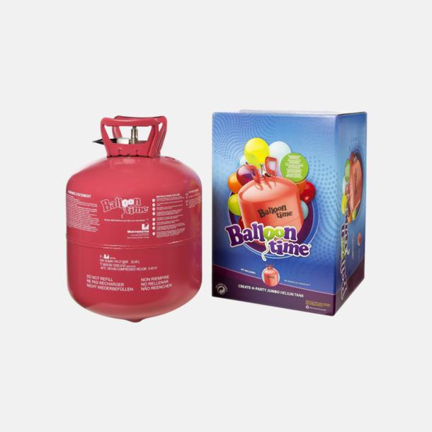 Heliumtub (se tillval) Hjärtformade ballonger med eget reklamtryck