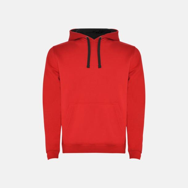Red 60/Black 02 (herr) Tvåfärgade huvtröjor i herr & dam med reklamtryck