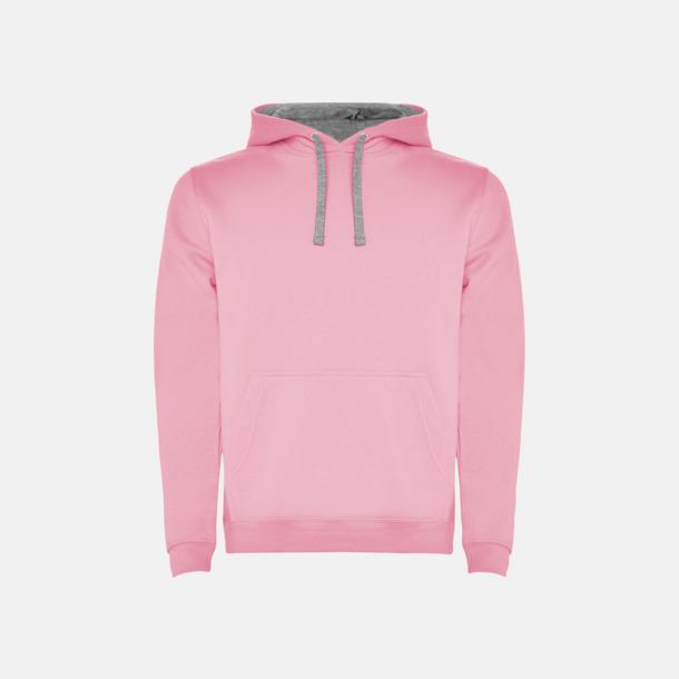 Light Pink 48/Heather Grey 58 (herr) Tvåfärgade huvtröjor i herr & dam med reklamtryck