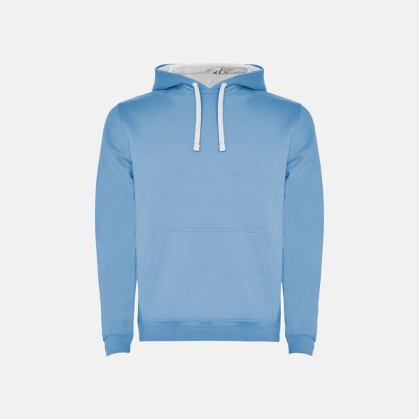 Sky Blue 10/White 01 (herr) Tvåfärgade huvtröjor i herr & dam med reklamtryck