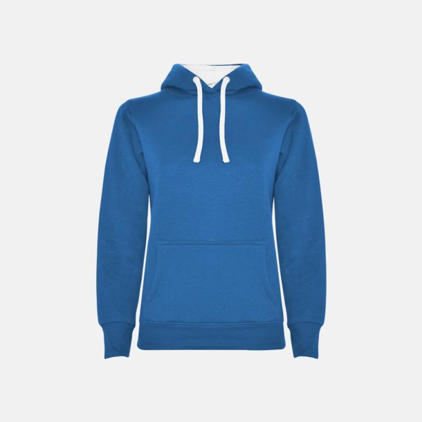Royal Blue 05/White 01 (dam) Tvåfärgade huvtröjor i herr & dam med reklamtryck